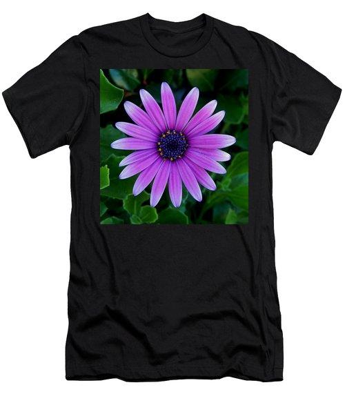 Purple Flower Men's T-Shirt (Slim Fit) by Pamela Walton