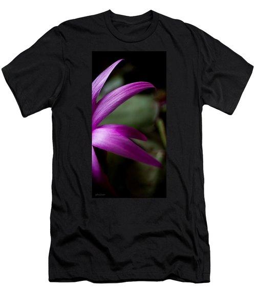 Men's T-Shirt (Slim Fit) featuring the photograph Purple Flower by Steven Milner