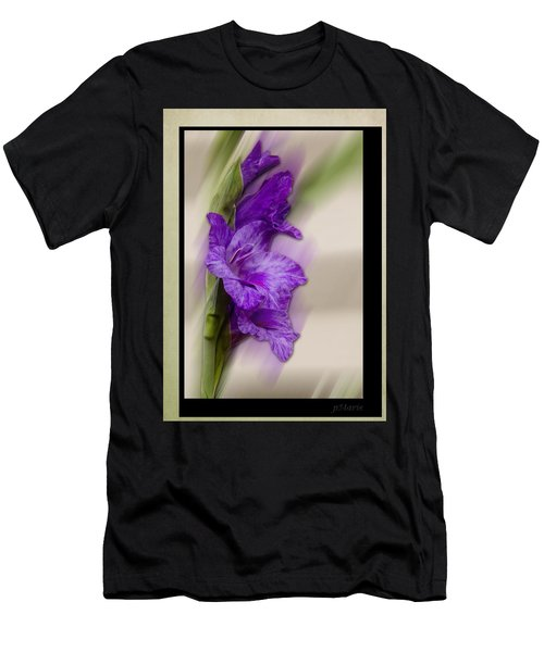 Purple Gladiolus Men's T-Shirt (Athletic Fit)