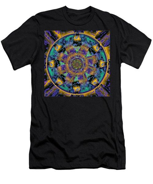 Purple Gold Dream Catcher Mandala Men's T-Shirt (Athletic Fit)