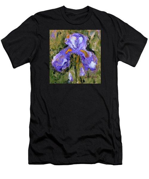 Purple Iris2 Men's T-Shirt (Athletic Fit)