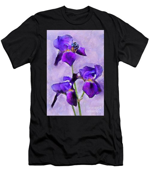 Purple Irises - Painted Men's T-Shirt (Athletic Fit)