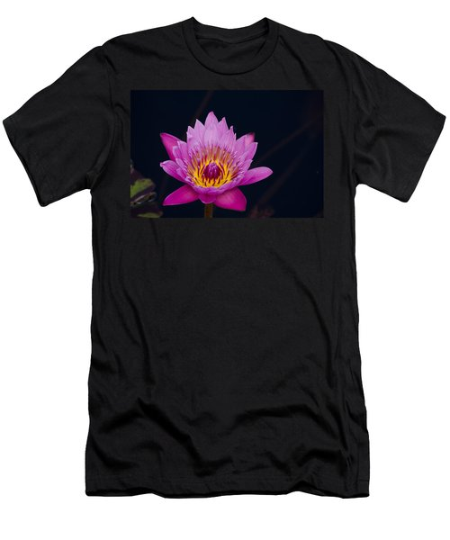 Purple Lotus Flower Men's T-Shirt (Athletic Fit)