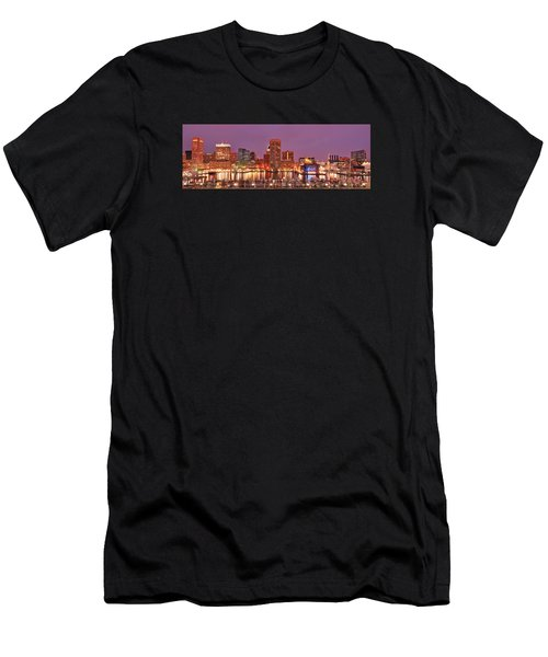 Purple Night In Baltimore Men's T-Shirt (Athletic Fit)