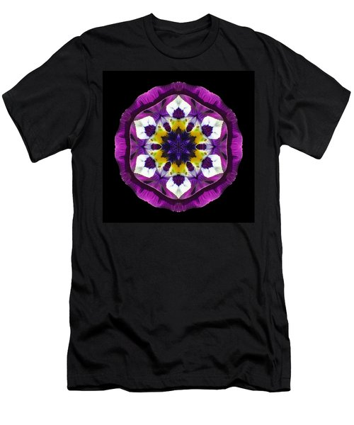 Purple Pansy II Flower Mandala Men's T-Shirt (Athletic Fit)