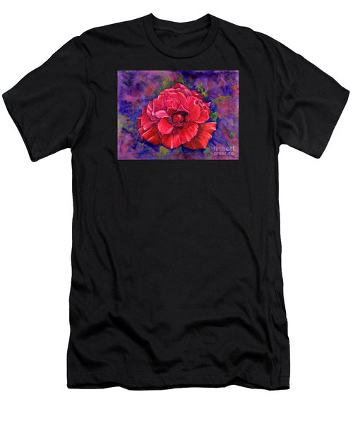 Men's T-Shirt (Athletic Fit) featuring the painting Purple Passion by Nancy Cupp