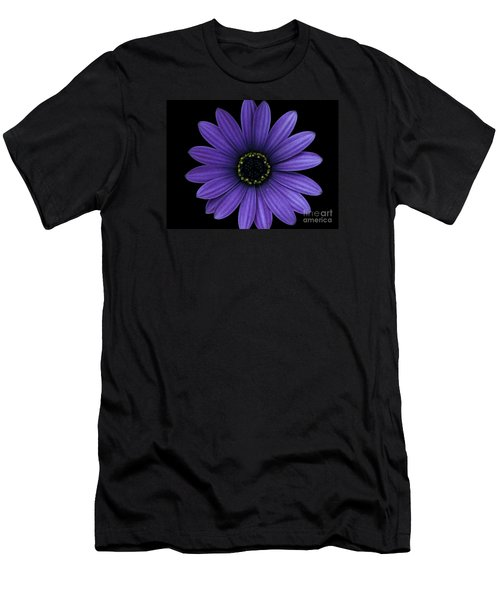 Men's T-Shirt (Slim Fit) featuring the photograph Purple Peace by Janice Westerberg