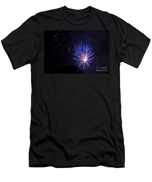 Men's T-Shirt (Slim Fit) featuring the photograph Purple Power by Suzanne Luft