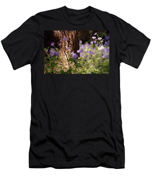 Purple Splash Men's T-Shirt (Athletic Fit)