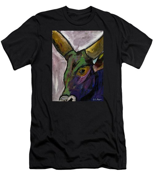 Purple Ugandan Cow Men's T-Shirt (Athletic Fit)
