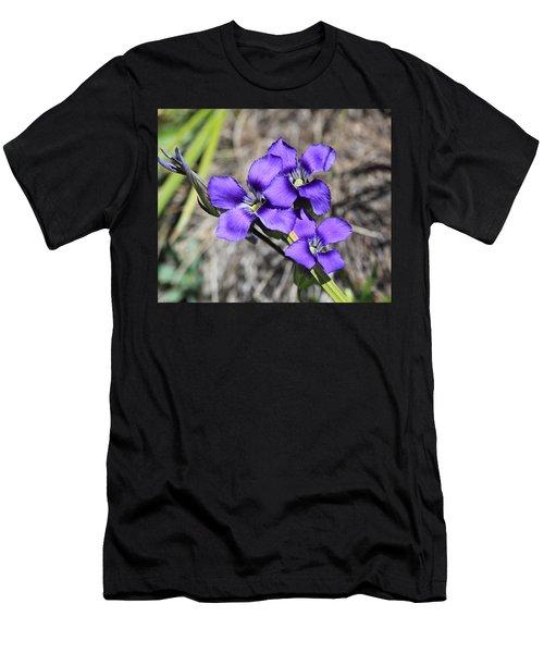 Purple Wildflower Men's T-Shirt (Athletic Fit)