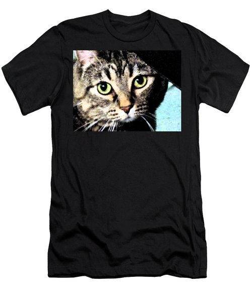 Men's T-Shirt (Slim Fit) featuring the photograph Purrfectly Bright Eyed by Nina Silver