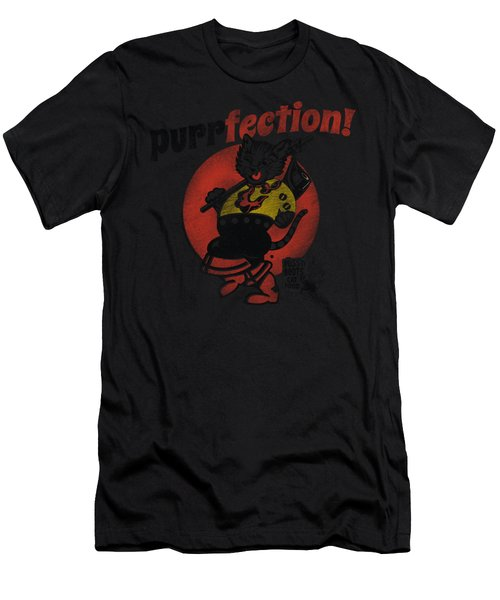Puss N Boots - Purrfection Men's T-Shirt (Athletic Fit)