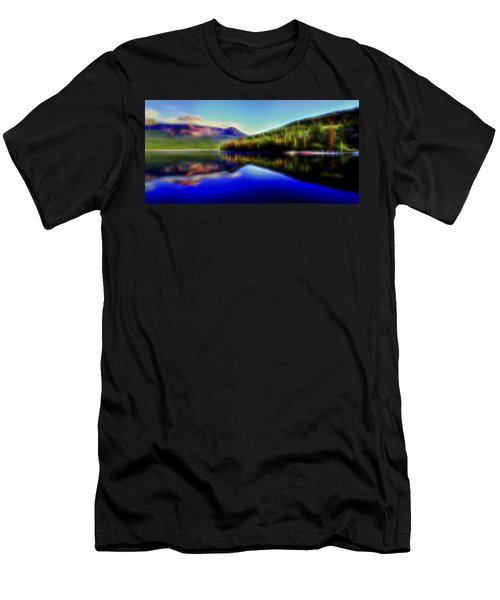 Men's T-Shirt (Slim Fit) featuring the digital art Pyramid Mirror 1 by William Horden