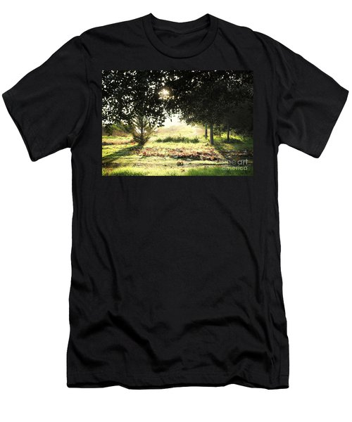 Men's T-Shirt (Slim Fit) featuring the photograph Quarry Lakes Sunrise by Ellen Cotton