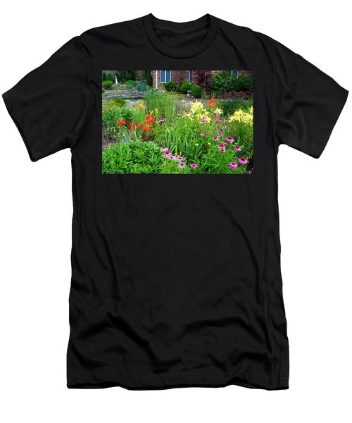Men's T-Shirt (Slim Fit) featuring the photograph Quarter Circle Garden by Kathryn Meyer