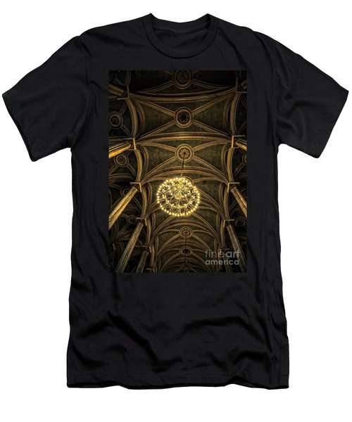 Quebec City Canada Ornate Grand Hall Or Church Ceiling Men's T-Shirt (Athletic Fit)