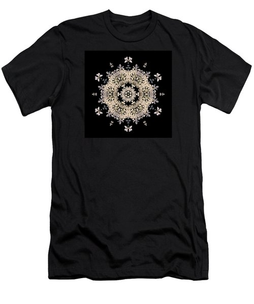 Queen Anne's Lace Flower Mandala Men's T-Shirt (Athletic Fit)