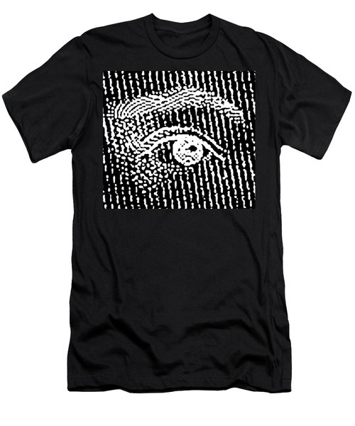 Men's T-Shirt (Slim Fit) featuring the digital art Queen Elizabeth's Eyes by Vagabond Folk Art - Virginia Vivier