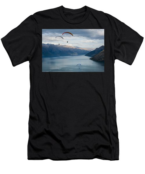 Queenstown Paragliders Men's T-Shirt (Athletic Fit)
