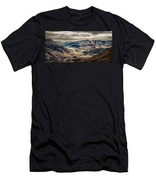 Men's T-Shirt (Athletic Fit) featuring the photograph Queenstown View by Chris Cousins