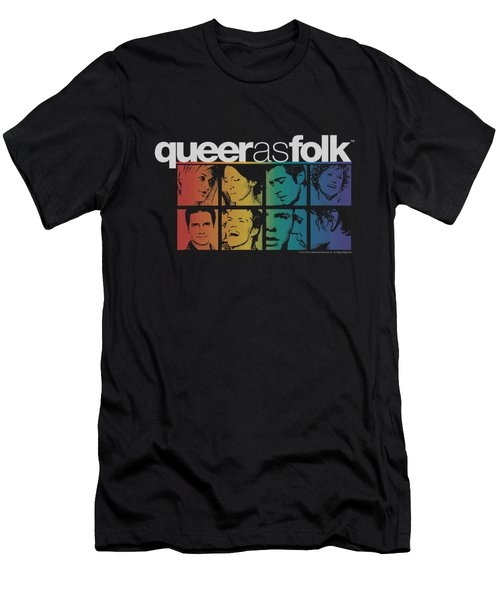 Queer As Folk - Cast Men's T-Shirt (Athletic Fit)