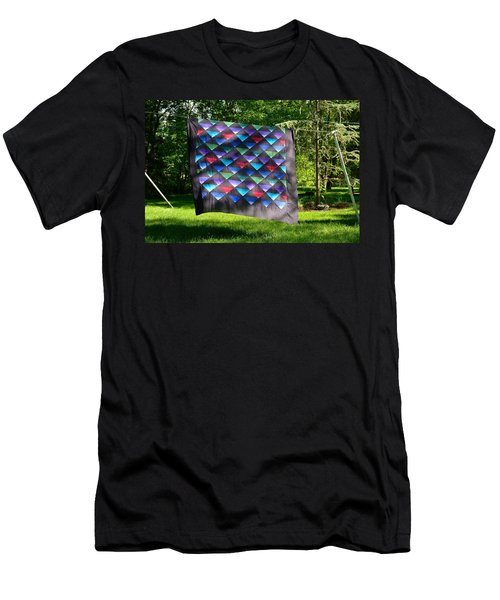 Quilt Top In The Breeze Men's T-Shirt (Athletic Fit)