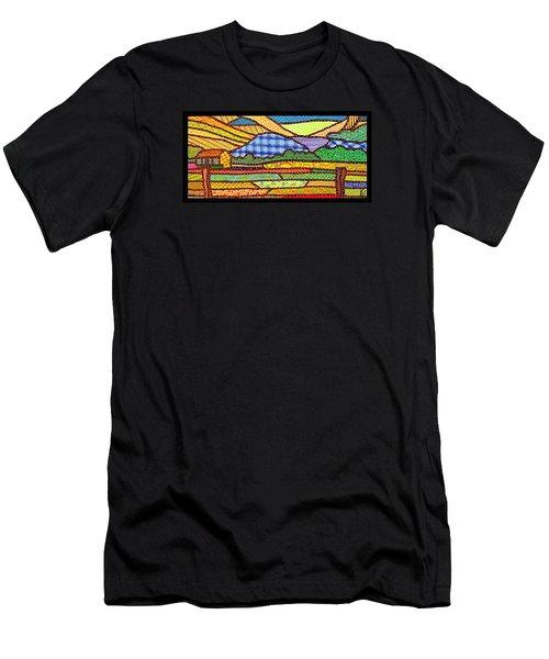 Quilted Massanutten Sunset Men's T-Shirt (Slim Fit)