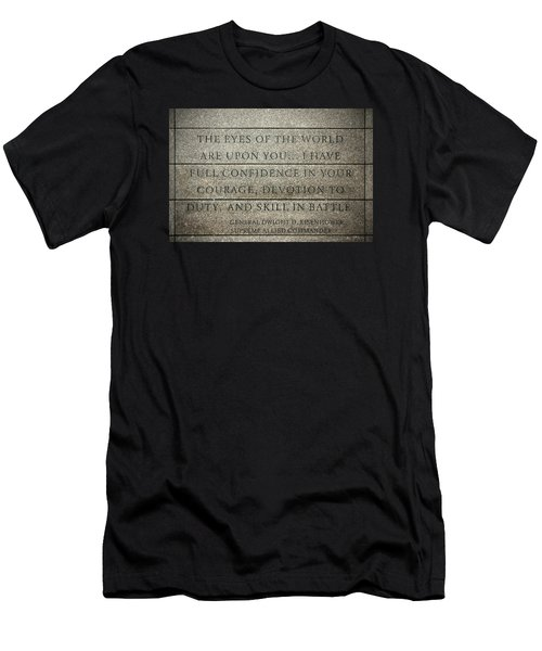 Quote Of Eisenhower In Normandy American Cemetery And Memorial Men's T-Shirt (Athletic Fit)