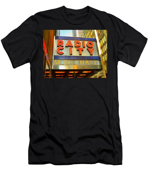 Men's T-Shirt (Slim Fit) featuring the photograph Radio City Music Hall by Judy Palkimas