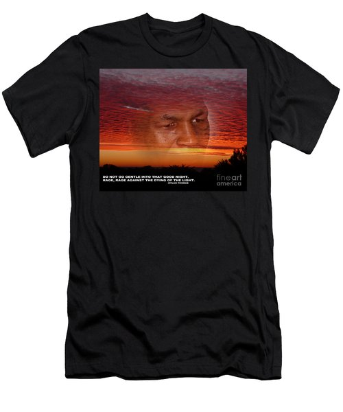 Rage Rage Against The Dying Of The Light Men's T-Shirt (Athletic Fit)