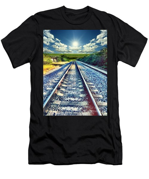 Railroad To Heaven Men's T-Shirt (Athletic Fit)