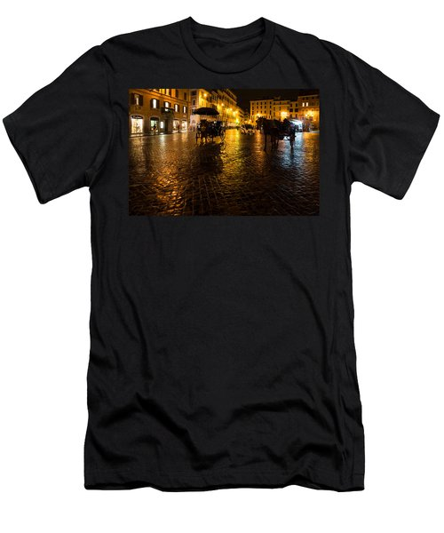 Rain Chased The Tourists Away... Men's T-Shirt (Slim Fit)
