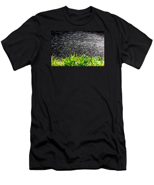 Rain In The Garden Men's T-Shirt (Slim Fit) by Edgar Laureano
