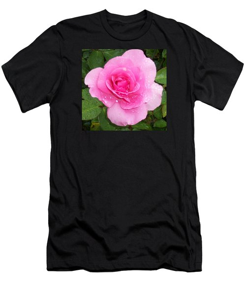 Rain Kissed Rose Men's T-Shirt (Athletic Fit)