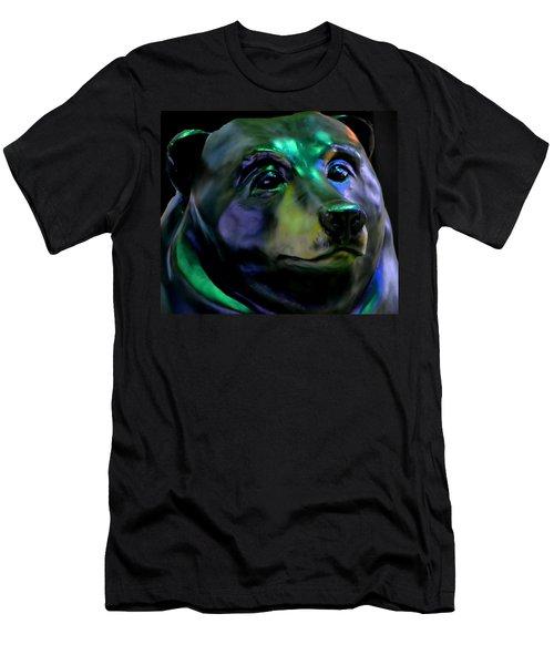 Rainbow Bear Men's T-Shirt (Slim Fit) by Deena Stoddard