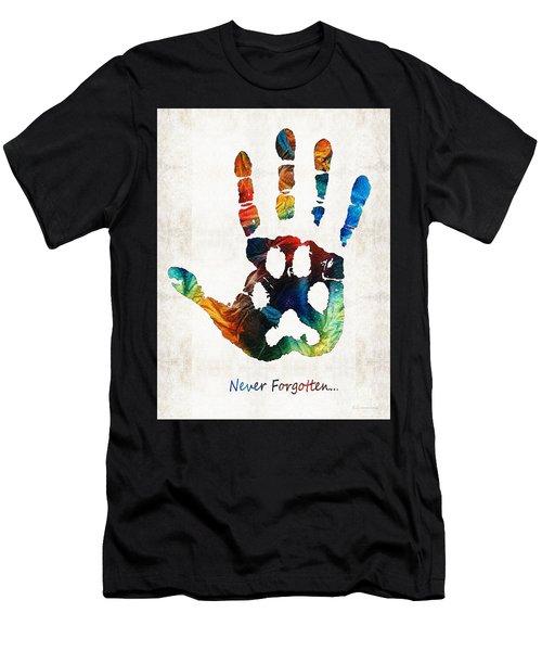 Rainbow Bridge Art - Never Forgotten - By Sharon Cummings Men's T-Shirt (Athletic Fit)