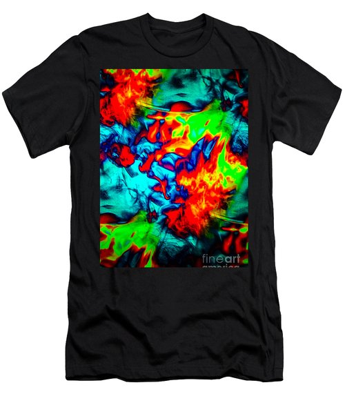 Rainbow Dye Men's T-Shirt (Athletic Fit)