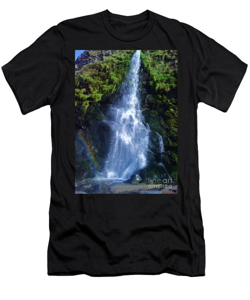 Men's T-Shirt (Slim Fit) featuring the photograph Rainbow Falls by John Williams