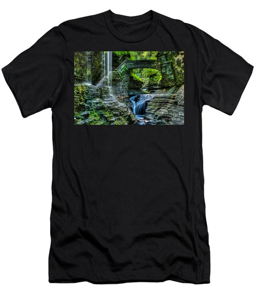 Rainbow Falls Watkins Glen Men's T-Shirt (Athletic Fit)