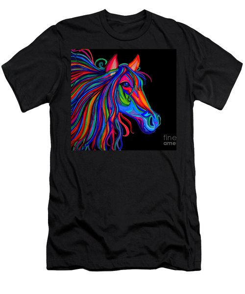 Rainbow Horse Head Men's T-Shirt (Athletic Fit)