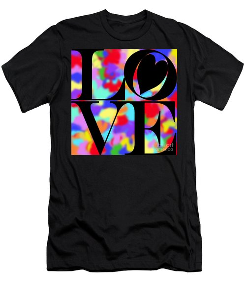 Rainbow Love In Black Men's T-Shirt (Athletic Fit)