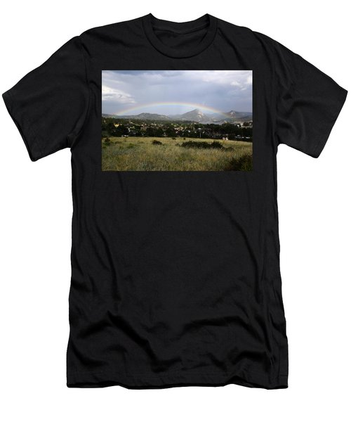 Rainbow Over Lake Estes Men's T-Shirt (Athletic Fit)
