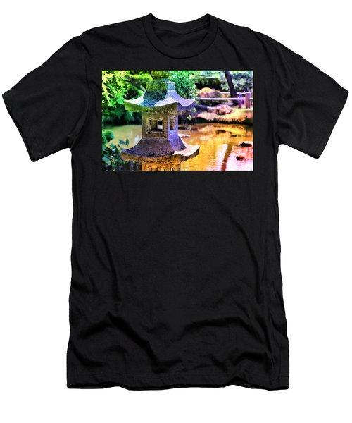 Rainbow Pagoda Men's T-Shirt (Athletic Fit)