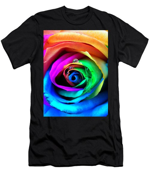 Rainbow Rose Men's T-Shirt (Athletic Fit)