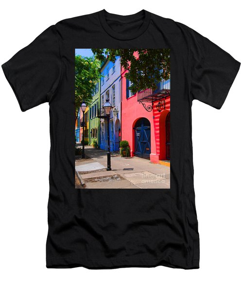 Rainbow Row Charleston Men's T-Shirt (Athletic Fit)