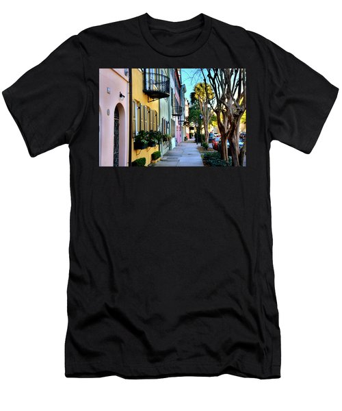 Rainbow Row Hdr Men's T-Shirt (Athletic Fit)