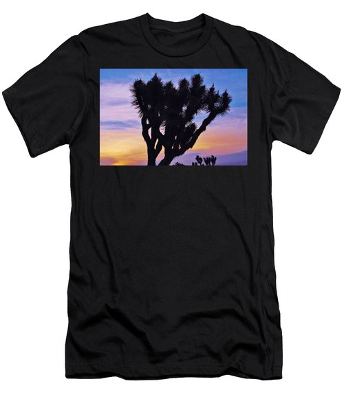 Men's T-Shirt (Slim Fit) featuring the photograph Rainbow Yucca by Angela J Wright
