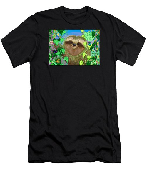 Rainforest Sloth Men's T-Shirt (Athletic Fit)