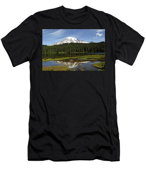 Men's T-Shirt (Slim Fit) featuring the photograph Rainier's Reflection by Tikvah's Hope